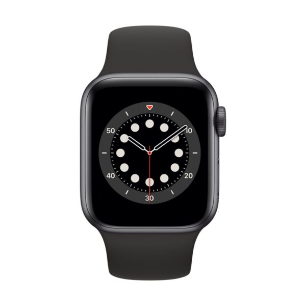 Watch Series 6 GPS, 44mm Space Gray Aluminium Case with Black Sport Band - Regular
